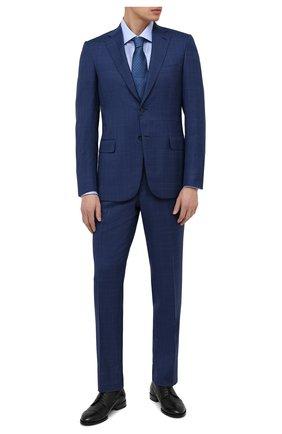 Мужская хлопковая сорочка BRIONI голубого цвета, арт. RCL40L/P003U | Фото 2
