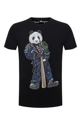Мужская хлопковая футболка BISIBIGLIO черного цвета, арт. R33 PANDA BAND/RIF (C0TT0NE PESANTE) | Фото 1