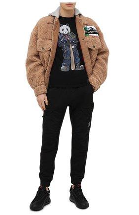 Мужская хлопковая футболка BISIBIGLIO черного цвета, арт. R33 PANDA BAND/RIF (C0TT0NE PESANTE) | Фото 2