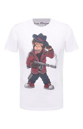 Мужская хлопковая футболка BISIBIGLIO белого цвета, арт. R29 M0NKEY ARMY/RIF (C0TT0NE PESANTE) | Фото 1