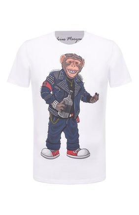 Мужская хлопковая футболка BISIBIGLIO белого цвета, арт. R27 M0NKEY FUCK/RIF (C0TT0NE PESANTE) | Фото 1