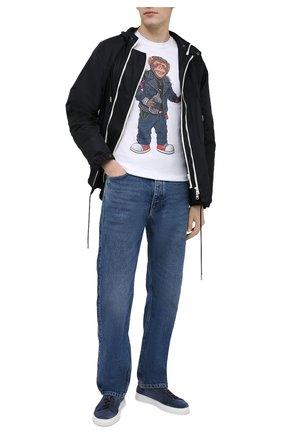 Мужская хлопковая футболка BISIBIGLIO белого цвета, арт. R27 M0NKEY FUCK/RIF (C0TT0NE PESANTE) | Фото 2