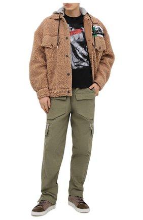 Мужская хлопковая футболка BISIBIGLIO черного цвета, арт. QUALITY LEGS/RIF (C0TT0NE PESANTE) | Фото 2