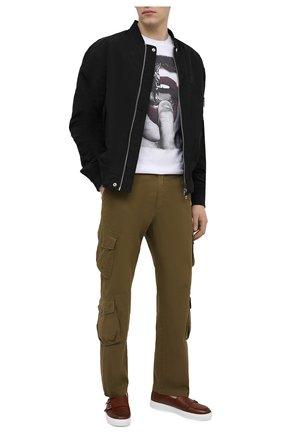 Мужская хлопковая футболка BISIBIGLIO белого цвета, арт. LU B0C FINGER/RIF (C0TT0NE PESANTE) | Фото 2