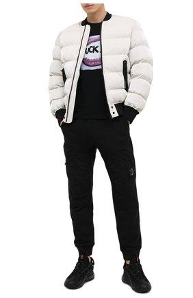Мужская хлопковая футболка BISIBIGLIO черного цвета, арт. FUCK P0INT/RIF (C0TT0NE PESANTE) | Фото 2