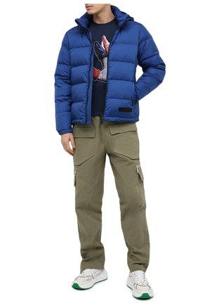 Мужская хлопковая футболка BISIBIGLIO темно-синего цвета, арт. FINGER C0ND0M/RIF (C0TT0NE PESANTE) | Фото 2