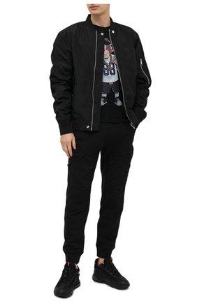 Мужская хлопковая футболка BISIBIGLIO черного цвета, арт. R28 M0NKEY GANSTER/RIF (C0TT0NE PESANTE) | Фото 2