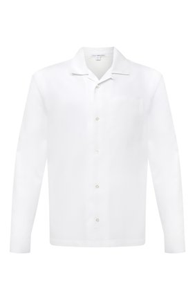 Мужская хлопковая рубашка JAMES PERSE белого цвета, арт. MLC3289UY | Фото 1 (Рукава: Длинные; Длина (для топов): Стандартные; Материал внешний: Хлопок; Стили: Кэжуэл; Случай: Повседневный)