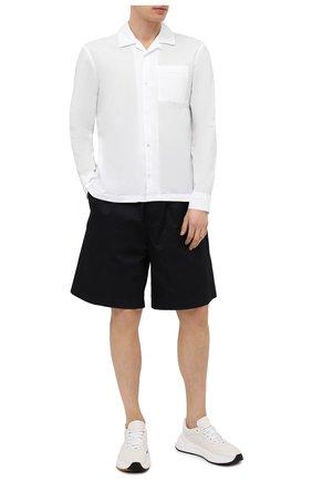 Мужская хлопковая рубашка JAMES PERSE белого цвета, арт. MLC3289UY | Фото 2 (Рукава: Длинные; Длина (для топов): Стандартные; Материал внешний: Хлопок; Стили: Кэжуэл; Случай: Повседневный)