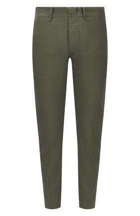 Мужские хлопковые брюки TOM FORD хаки цвета, арт. BW141/TFP224 | Фото 1