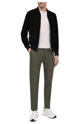 Мужские хлопковые брюки TOM FORD хаки цвета, арт. BW141/TFP224 | Фото 2