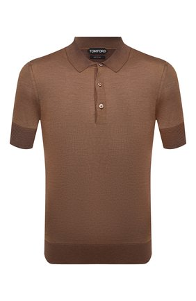 Мужское шелковое поло TOM FORD коричневого цвета, арт. BWS94/TFKC33 | Фото 1