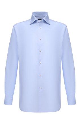 Мужская хлопковая сорочка ERMENEGILDO ZEGNA голубого цвета, арт. 901030/9RS0GS | Фото 1