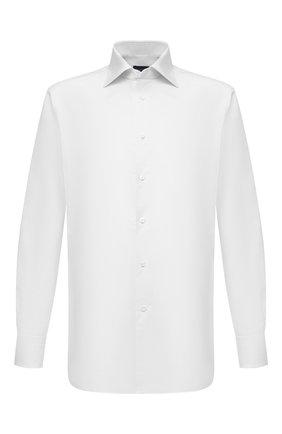 Мужская хлопковая сорочка ERMENEGILDO ZEGNA белого цвета, арт. 901031/9RS0GS | Фото 1