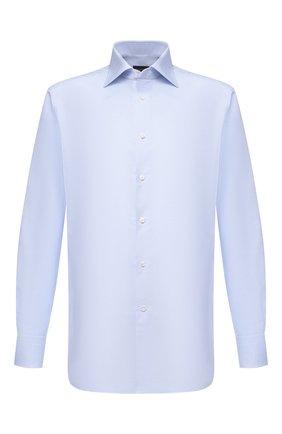 Мужская хлопковая сорочка ERMENEGILDO ZEGNA голубого цвета, арт. 901211/9MS0BA | Фото 1