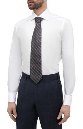 Мужская хлопковая сорочка ERMENEGILDO ZEGNA белого цвета, арт. 901222/9MS0BA | Фото 4