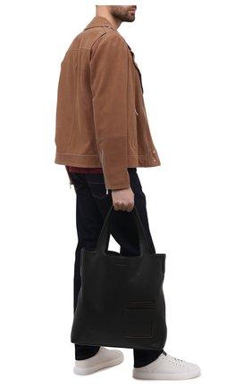 Мужская кожаная сумка-шопер ERMENEGILDO ZEGNA черного цвета, арт. C1570W-LHDAI | Фото 2