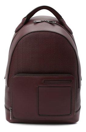 Мужской кожаный рюкзак ERMENEGILDO ZEGNA бордового цвета, арт. C1646P-LHPTT   Фото 1