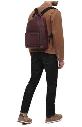 Мужской кожаный рюкзак ERMENEGILDO ZEGNA бордового цвета, арт. C1646P-LHPTT   Фото 2