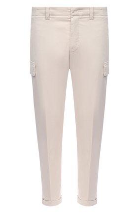 Мужские хлопковые брюки-карго Z ZEGNA белого цвета, арт. VW115/ZZ358   Фото 1