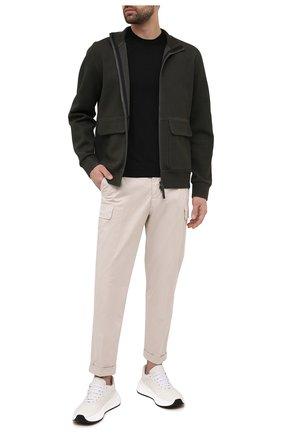 Мужские хлопковые брюки-карго Z ZEGNA белого цвета, арт. VW115/ZZ358   Фото 2