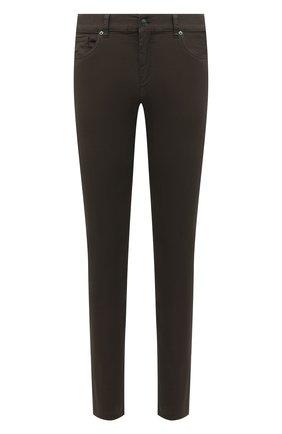 Мужские брюки ERMENEGILDO ZEGNA хаки цвета, арт. UWI50/JS01 | Фото 1