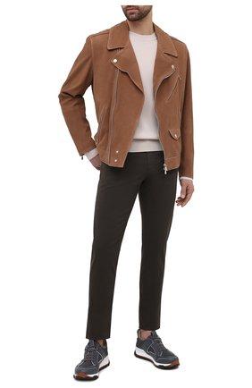Мужские брюки ERMENEGILDO ZEGNA хаки цвета, арт. UWI50/JS01 | Фото 2