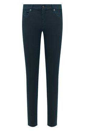 Мужские брюки ERMENEGILDO ZEGNA темно-бирюзового цвета, арт. UWI50/JS01 | Фото 1