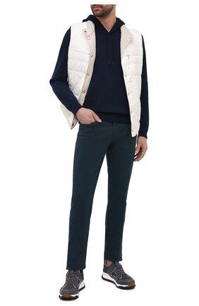 Мужские брюки ERMENEGILDO ZEGNA темно-бирюзового цвета, арт. UWI50/JS01 | Фото 2