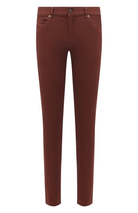 Мужские брюки ERMENEGILDO ZEGNA коричневого цвета, арт. UWI50/JS01 | Фото 1