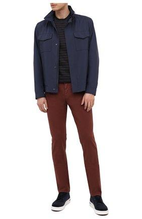 Мужские брюки ERMENEGILDO ZEGNA коричневого цвета, арт. UWI50/JS01 | Фото 2