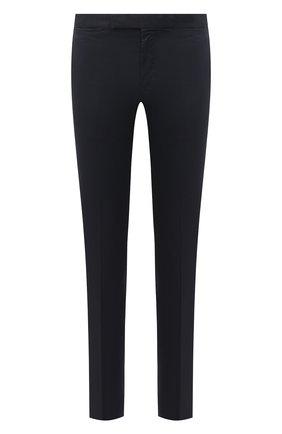 Мужские хлопковые брюки ERMENEGILDO ZEGNA темно-синего цвета, арт. UWI17/TN21 | Фото 1