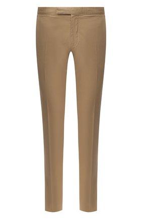 Мужские хлопковые брюки ERMENEGILDO ZEGNA бежевого цвета, арт. UWI17/TN21 | Фото 1