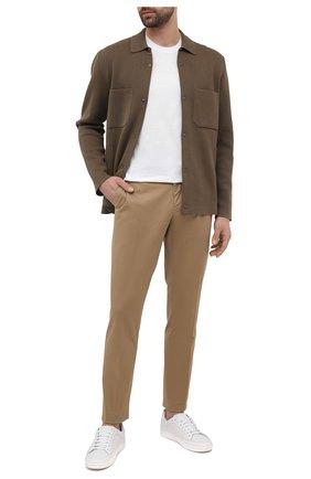 Мужские хлопковые брюки ERMENEGILDO ZEGNA бежевого цвета, арт. UWI17/TN21 | Фото 2