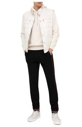 Мужской худи из хлопка и кашемира ERMENEGILDO ZEGNA белого цвета, арт. UWQ29/177 | Фото 2