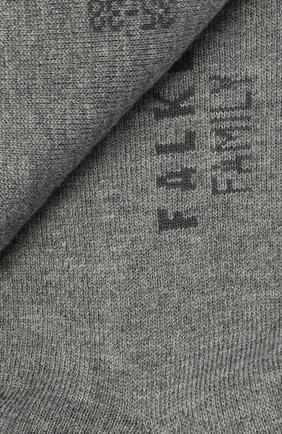 Женские хлопковые носки family FALKE серого цвета, арт. 47629   Фото 2
