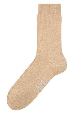 Женские носки FALKE бежевого цвета, арт. 47548   Фото 1 (Материал внешний: Шерсть)