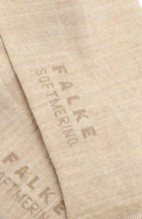 Женские носки softmerino FALKE кремвого цвета, арт. 47488 | Фото 2