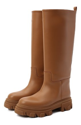 Женские кожаные сапоги GIA COUTURE коричневого цвета, арт. PERNI-07 B 103 | Фото 1