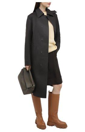 Женские кожаные сапоги GIA COUTURE коричневого цвета, арт. PERNI-07 B 103 | Фото 2