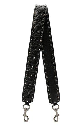 Женские ремень для сумки  VALENTINO черного цвета, арт. VW2P0P37/ARD   Фото 1