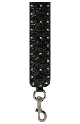 Женские ремень для сумки  VALENTINO черного цвета, арт. VW2P0P37/ARD   Фото 2