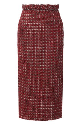 Женская юбка VALENTINO красного цвета, арт. VB3RA737677 | Фото 1