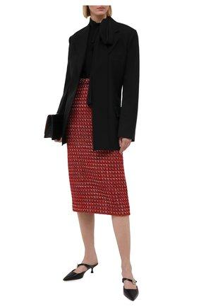 Женская юбка VALENTINO красного цвета, арт. VB3RA737677 | Фото 2