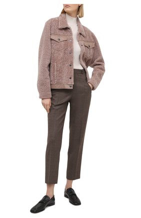 Женская дубленка SIMONETTA RAVIZZA розового цвета, арт. S01JA20H1/C685 | Фото 2