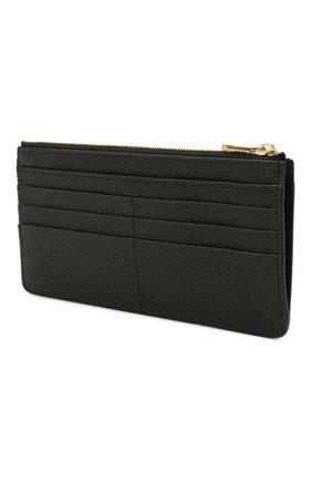 Женский кожаный футляр для кредитных карт DOLCE & GABBANA черного цвета, арт. BI1265/AW737 | Фото 2