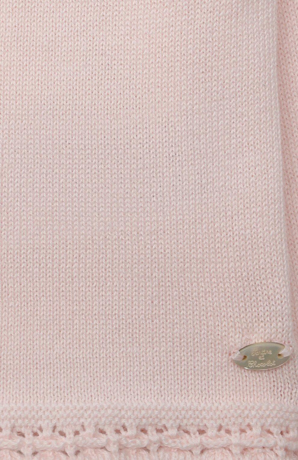 Детский хлопковый кардиган TARTINE ET CHOCOLAT светло-розового цвета, арт. TS18021/1M-1A | Фото 3