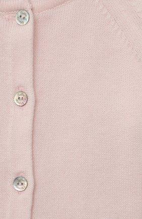 Детский хлопковый кардиган TARTINE ET CHOCOLAT светло-розового цвета, арт. TS18021/18M-3A | Фото 3 (Рукава: Длинные; Материал внешний: Хлопок; Ростовка одежда: 18 мес | 86 см, 24 мес | 92 см, 36 мес | 98 см)