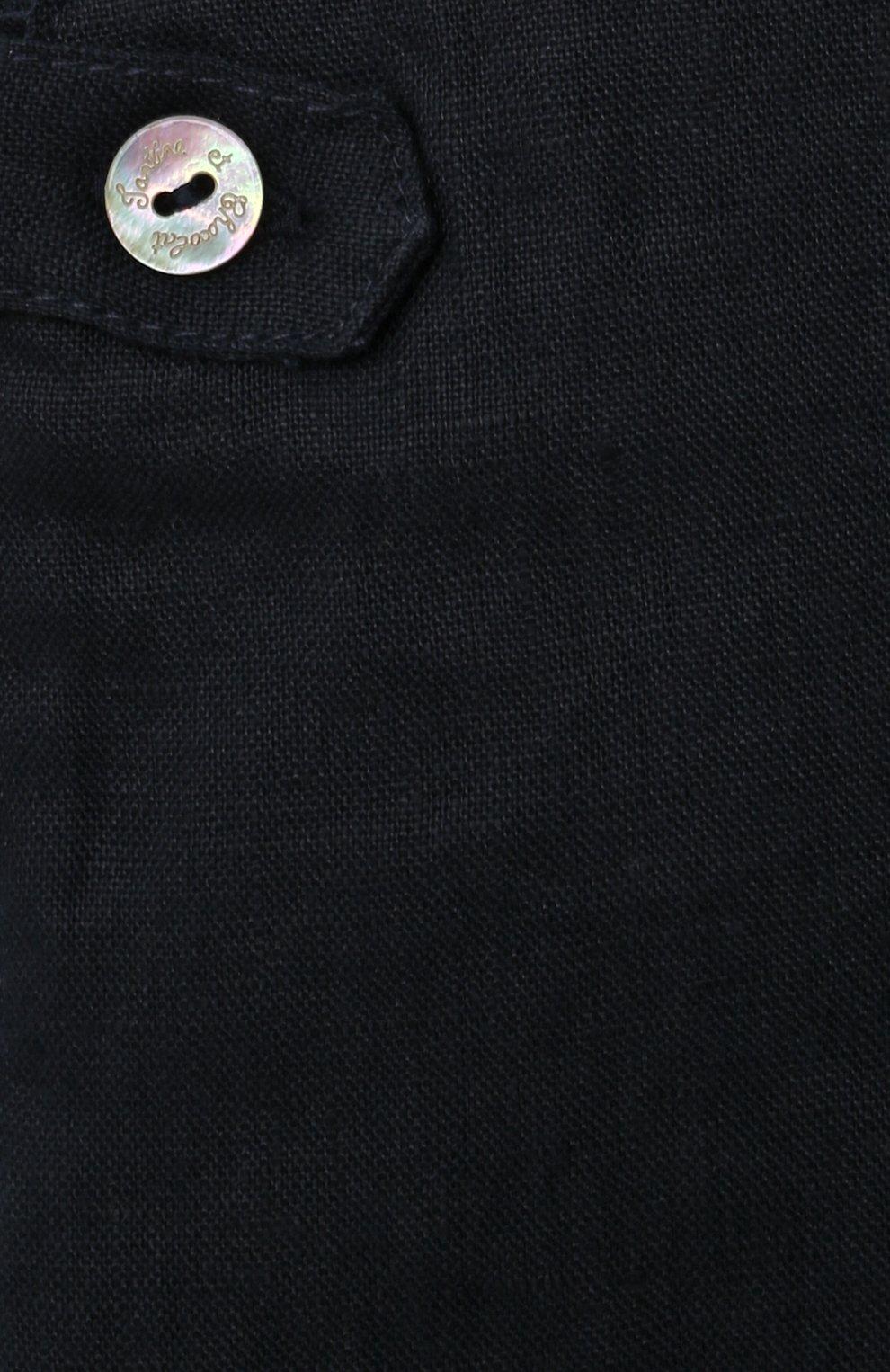 Детский льняной комбинезон TARTINE ET CHOCOLAT темно-синего цвета, арт. TS21051/1M-1A | Фото 3