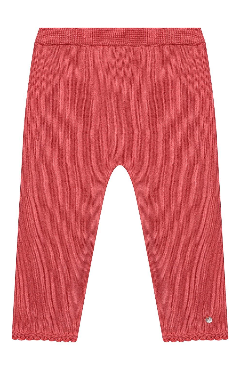 Детские хлопковые брюки TARTINE ET CHOCOLAT кораллового цвета, арт. TS24001/1M-1A | Фото 1